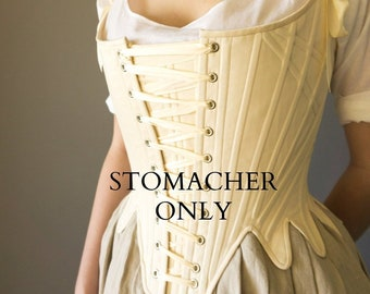 STOMACHER ADD-ON for 1780's synthetic whalebone front-lacing stays ***Stays/corset not included****