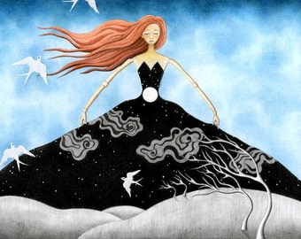 """Surreal Art Print, limited edition - """"Muse"""""""