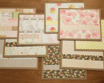 Summery paper notecard set