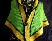 Green and Yellow Shawl Au...