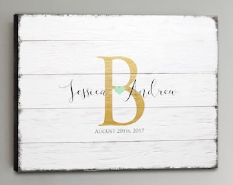 CANVAS Wedding Guest Book Wood - 30-150 Guests - Gold Wedding Guestbook Rustic Alternative Guestbook Pink Wedding Guestbook - White