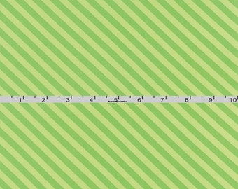 Green Striped Fabric, Tone on Tone Green Bias Stripe Quilt Fabric, Moda Grow! 22273 17 Me & My Sister Designs, Diagonal Green Fabric, Cotton