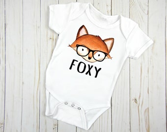 Fox Bodysuit, Baby Fox, Fox Baby Shirt, Fox, Baby Outfit, Baby Apparel, Baby Shower Gift, Hipster Baby, Trendy Baby Apparel, Baby Gift