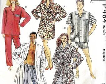 Easy McCall's P464 /5683 Misses, Men's & Teens Robe, Nightshirt And Pajamas Pattern, Medium 36-38, UNCUT