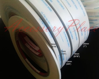 """Authentic by manufacturer 1Rolls of 15mm(9/16"""") 55Yards Non woven Double Sided Scor Tape 4 Hair clip, Headband"""