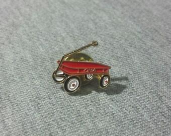 Retro Lapel Pin Red Wagon OHA