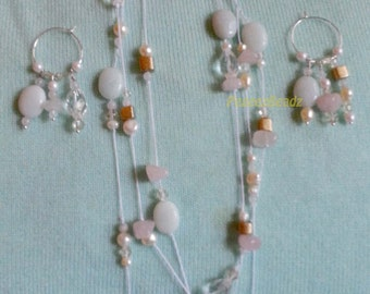 Necklace, earrings featuring treasures from the sea!!!