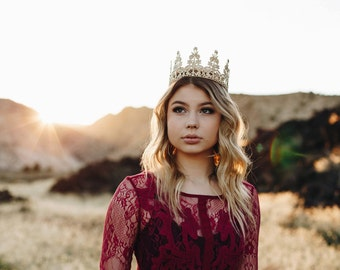 ELLE Lace Crown || Ready to Ship || FULL size lace crown || photography prop|| Toddler-Adult || WASHABLE