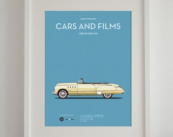 Rain Man car movie poster, art print A3 Cars And Films, home decor prints, illustration print. Car print