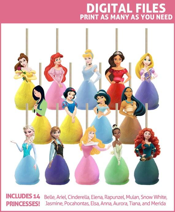 Disney Princess Cake Pop Toppers Printables Digital All