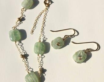 Belaya Bracelet and Earring Set