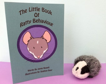 The Little Book Of Ratty Behaviour Zine, A6 Printed on quality 300gsm card and Handmade