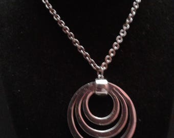 Lisner Mod Circle Necklace, Signed