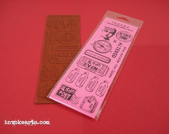 Altered Stuff / Invoke Arts Collage Rubber Stamps / Unmounted Stamp Set