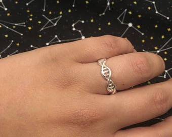 DNA Double Helix Adjustable Ring