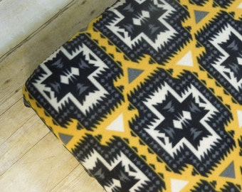 Rustic Crib Sheet Fleece Fitted - Warm & Cozy | toddler| mustard | black | gray | cream | southwestern | modern western | geometric