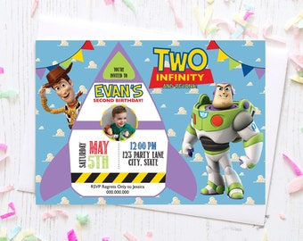 Toy Story Second Birthday Invitation | Two Infinity and Beyond