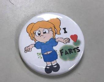 I Love Farts - 2.25 round Button