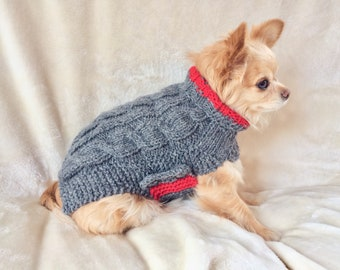 Chihuahua sweater, xs dog sweater, small breed dog clothes, dog sweater, chihuahua coat, xs dog clothes, tiny dog sweater, small dog sweater