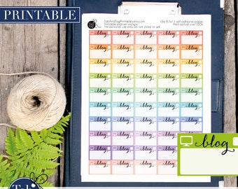 BLOG printable planner stickers for Erin Condren planner.