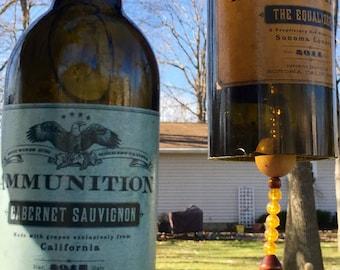Ammunition Wind Chime / Wine Bottle Wind Chime / Glass Wind Chime / Bottle Wind Chime / Wine Wind Chime