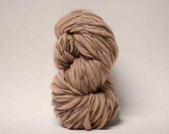 Thick and Thin Merino Yarn Handspun Wool Slub  Hand Dyed tts(tm) Fresh Brew 000x