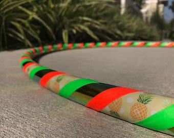 Pineapple Hula Hoop - Custom Dance Hoop - Choose Your Diameter - Beginner Hula Hoop