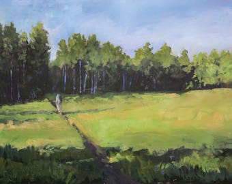 Morning Meadows - Morning Walk - Philmont - New Mexico - Original Oil Landscape Painting