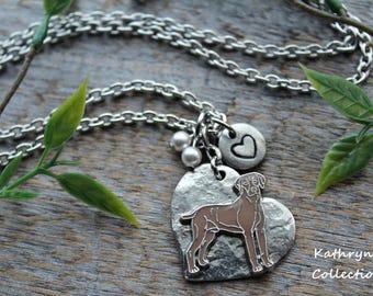 Hungarian Vizsla Necklace, Vizsla Jewelry, Vizsla Gift, Heart Dog Jewelry, Vizsla Keepsake, Read full listing details before ordering