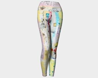 Yoga legging or yoga capris printed with Marika Lemay artwork yoga sport legging