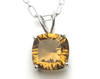 Beer quartz sterling silver pendant, FREE SHIPPING