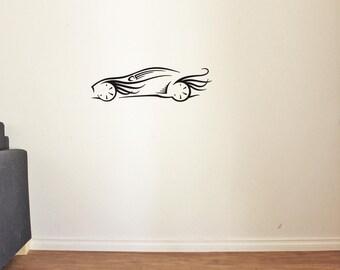 Car Wall Decal for Nursery Boy Room Decor Vinyl Stickers MK0030