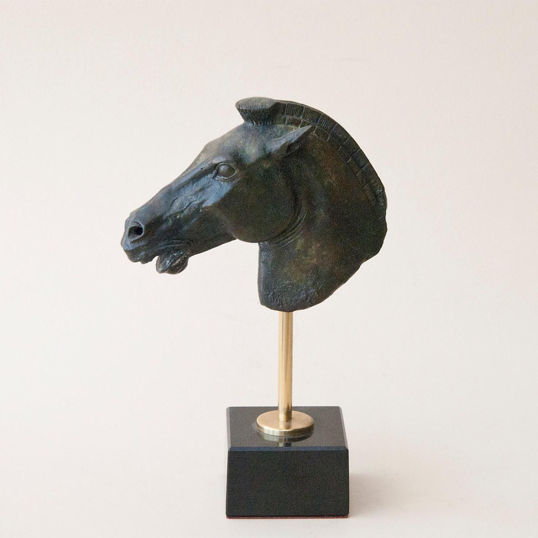 Cheval de bronze Sculpture Art métal grecque Acropole