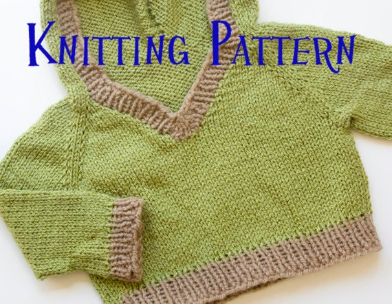 Pdf Knitting Pattern Woodland Hooded Pullover Infant Sweater