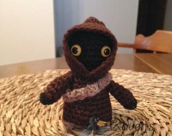 Jawa Inspired Amigurumi doll- MADE to ORDER- Star Wars Inspired dolls