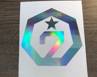 GOT7 Holographic Laptop Decal