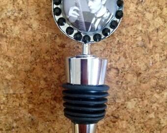 Bowie Fan Art wine bottle stopper