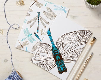 2 pack Dragonfly Notebooks / Insect Notepads