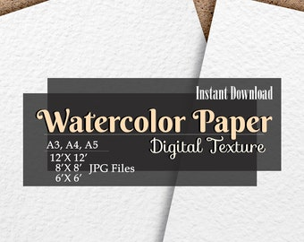 Paper texture Watercolor paper background Digital white paper texture Printable paper Instant download Scrapbook paper