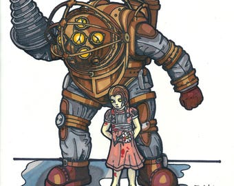 Bioshock Big Daddy Print