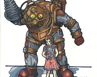 Bioshock Big Daddy Print