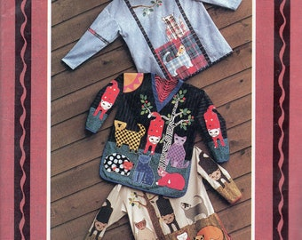 Uncut Vintage 1991 TOP CAT Appliqued PULLOVER Top Pattern
