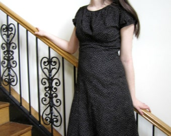 Gathered Neck Sundress, Summer Dress, Party Dress, high neck, modest dress, day dress, empire waist - custom made in any fabric