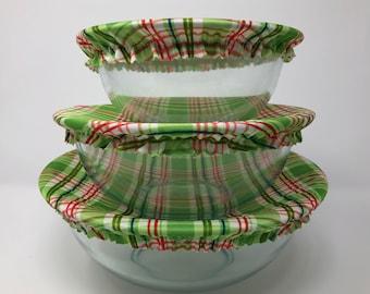 Reusable Bowl Covers, Plaid