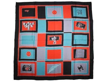 LEICA Vintage Scarf 100% Reine Silk