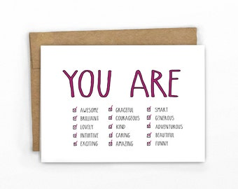 Encouragement Card | Graduation Card ~ You Are..All of the Above!