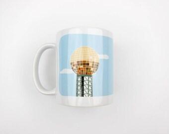 Scruffy City Mug | Coffee Mug | Ceramic Mug | Knoxville Mug | Tennessee Mug | Housewarming Gift | Hostess Gift | Boss Gift | Sunsphere