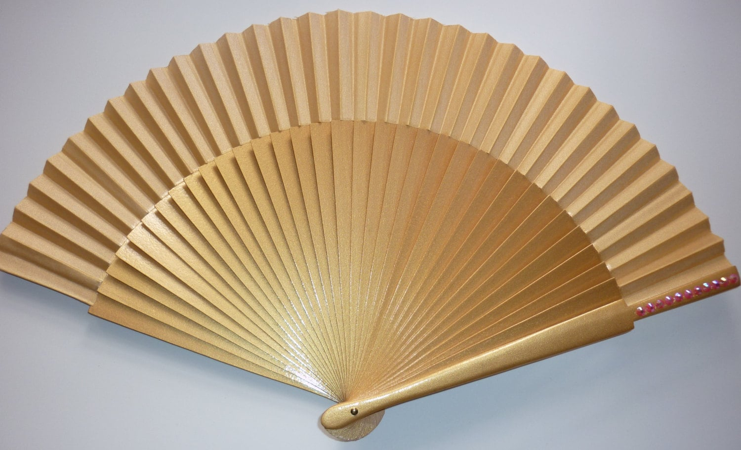 a touch of bling any color handheld folding fan mto made to