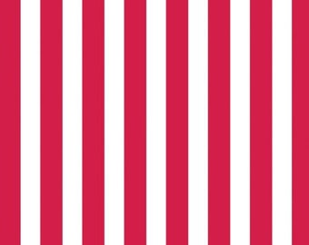 Canvas Corp 12 x 12 in. Paper Red & White Big Stripe