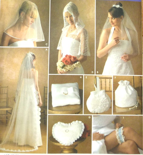 Simplicity 4216 wedding accessories sewing pattern UNCUT all